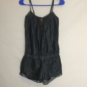 chambray dark denim romper Arden B.